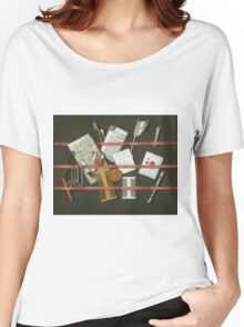 Edwaert Collier  - STill Life A Letter Rack.  Collier  - still life with  Letter. Women's Relaxed Fit T-Shirt