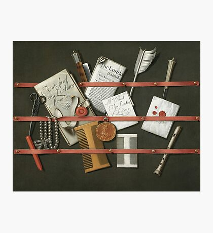 Edwaert Collier  - STill Life A Letter Rack.  Collier  - still life with  Letter. Photographic Print