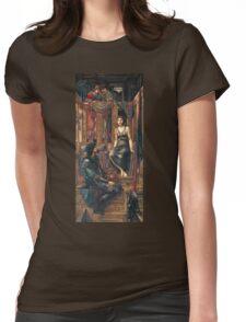 Edward Burne-Jones  - King Cophetua And The Beggar Maid 1884. Burne-Jones  - people portrait. Womens Fitted T-Shirt
