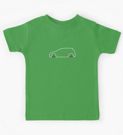 VW GTI MkV Silhouette  (light prnt) Kids Tee