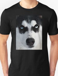 Husky Dog Art - Bat Man Unisex T-Shirt