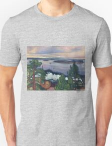 Edvard Munch - Train Smoke. Munch - lake landscape. Unisex T-Shirt