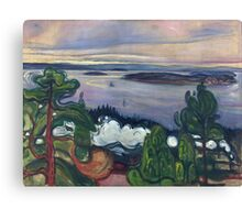 Edvard Munch - Train Smoke. Munch - lake landscape. Canvas Print