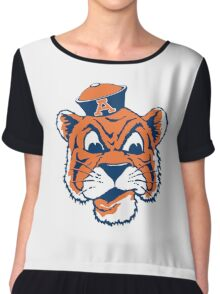 state of auburn mascot Chiffon Top