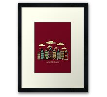 Amsterdam red Framed Print
