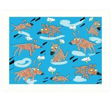Flying Dog Art Print