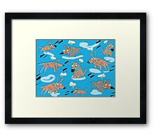 Flying Dog Framed Print