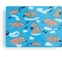 Flying Dog Metal Print