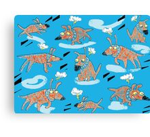 Flying Dog Canvas Print