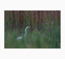 Great Egret amongst the reeds One Piece - Long Sleeve