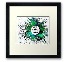 ABSTRACT-ALT+CTRL+DELETE, Clothing & Products Design Framed Print