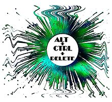 ABSTRACT-ALT+CTRL+DELETE, Clothing & Products Design Photographic Print