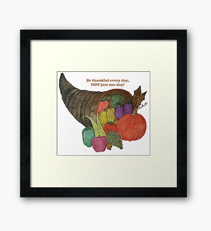 Thanksgiving Blessing Every Day Framed Print