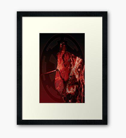 Darth Vader Space Design Framed Print