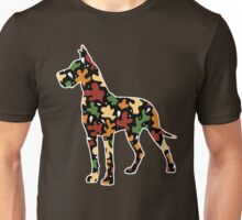 Autumn Leaves Great Dane Unisex T-Shirt
