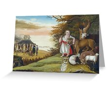 Edward Hicks - Peaceable Kingdom. Hicks - animals. Greeting Card