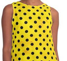 Yellow polka dots Contrast Tank