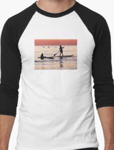 Child Art - Magical Sunset Men's Baseball ¾ T-Shirt