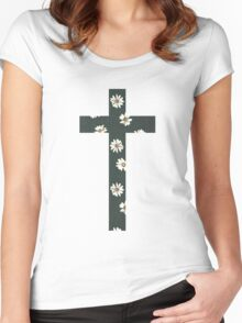 Christian Cross Women's Fitted Scoop T-Shirt