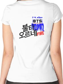 ♥♫Fire BTS-Bangtan Boys K-Pop Clothes & Phone/iPad/Laptop/MackBook Cases/Skins & Bags & Home Decor & Stationary♪♥ Women's Fitted Scoop T-Shirt