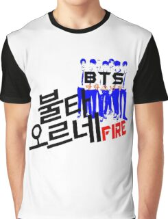 ♥♫Fire BTS-Bangtan Boys K-Pop Clothes & Phone/iPad/Laptop/MackBook Cases/Skins & Bags & Home Decor & Stationary♪♥ Graphic T-Shirt