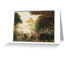 Edward Hicks - The Peaceable Kingdom 1845. Hicks  Greeting Card