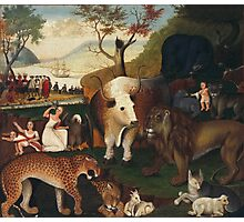 Edward Hicks - The Peaceable Kingdom 1868. Hicks Photographic Print