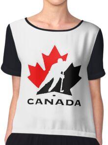 CANADA NATIONAL ICE HOCKEY TEAM Chiffon Top