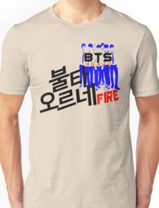 ♥♫Fire BTS-Bangtan Boys K-Pop Clothes & Phone/iPad/Laptop/MackBook Cases/Skins & Bags & Home Decor & Stationary & Mugs♪♥ Unisex T-Shirt