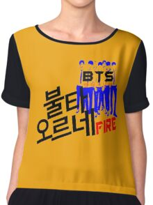 ♥♫Fire BTS-Bangtan Boys K-Pop Clothes & Phone/iPad/Laptop/MackBook Cases/Skins & Bags & Home Decor & Stationary♪♥ Chiffon Top