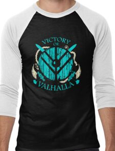 victory or valhalla - shieldmaiden - 2 Men's Baseball ¾ T-Shirt