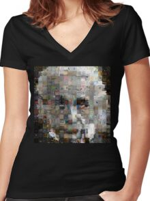 The Genius Of Numbers Women's Fitted V-Neck T-Shirt