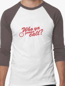 Who Ya Gonna Call? Ghostbusters! Men's Baseball ¾ T-Shirt