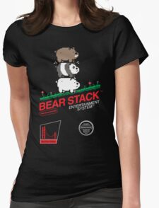 Bear Stack Womens Fitted T-Shirt