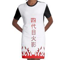 minato 4th hokage Graphic T-Shirt Dress