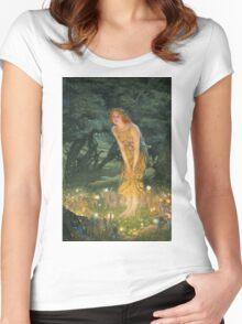 Edward Robert Hughes - Midsummereve.  Robert Hughes - woman portrait. Women's Fitted Scoop T-Shirt