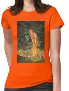Edward Robert Hughes - Midsummereve.  Robert Hughes - woman portrait. Womens Fitted T-Shirt