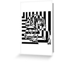 Contrast Gas mask Greeting Card