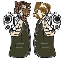 Pulp Fiction - Tiger and Dog Photographic Print