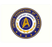 STAR TREK - UNITED FEDERATION OF PLANETS Art Print