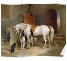 Edwin Landseer - Favourites, The Property Of Prince George Of Cambridge 1834.  Landseer  Poster