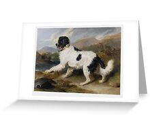 Edwin Landseer - Lion A Newfoundland Dog 1824.  Landseer Greeting Card