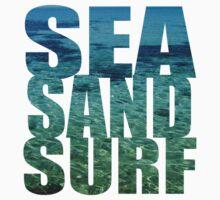 Sea Sand Surf Kids Tee