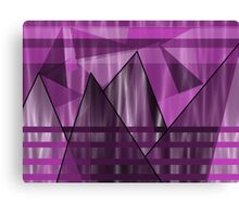 Purple Peaks Canvas Print