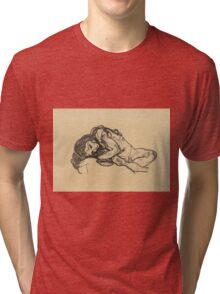 Egon Schiele -  Girl.  Schiele - woman portrait. Tri-blend T-Shirt
