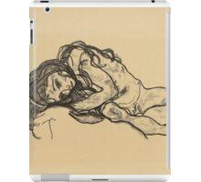 Egon Schiele -  Girl.  Schiele - woman portrait. iPad Case/Skin