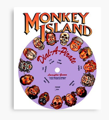 THE SECRET OF MONKEY ISLAND - DISC PASSWORD Canvas Print