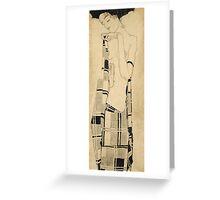 Egon Schiele - Standing Girl. Schiele - woman portrait. Greeting Card