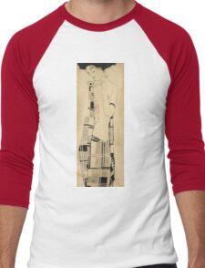 Egon Schiele - Standing Girl. Schiele - woman portrait. Men's Baseball ¾ T-Shirt