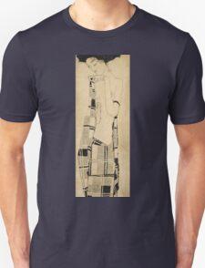 Egon Schiele - Standing Girl. Schiele - woman portrait. Unisex T-Shirt